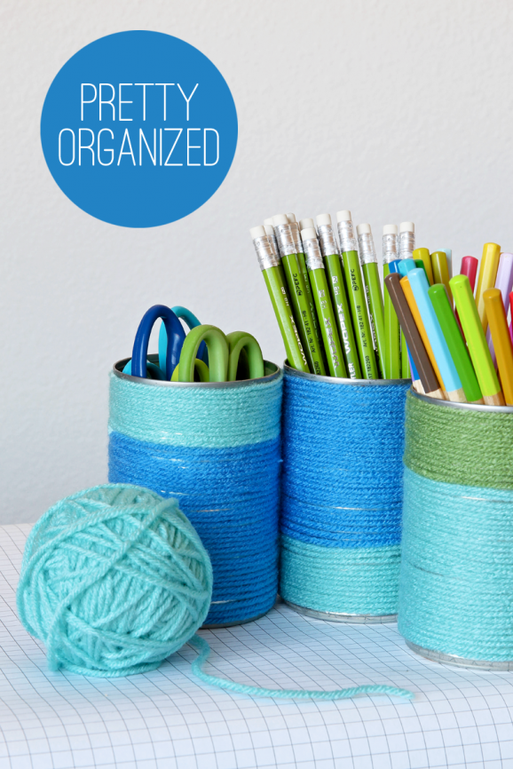 Easy DIY Tin Can Organizers for your desk or art closet via @PagingSupermom #KidsCraft