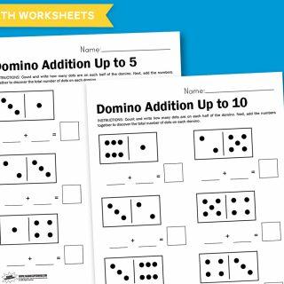 Worksheet Wednesday: Domino Math