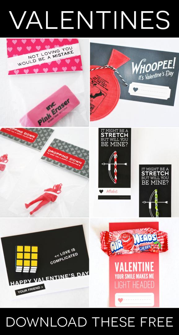 Six Free Printable Valentines via @PagingSupermom