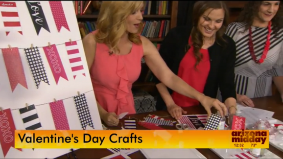 @PagingSupermom sharing easy Valentine's ideas on NBC's Arizona Midday