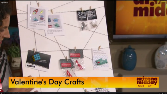 @PagingSupermom sharing easy Valentine's ideas on NBC's Arizona Midday