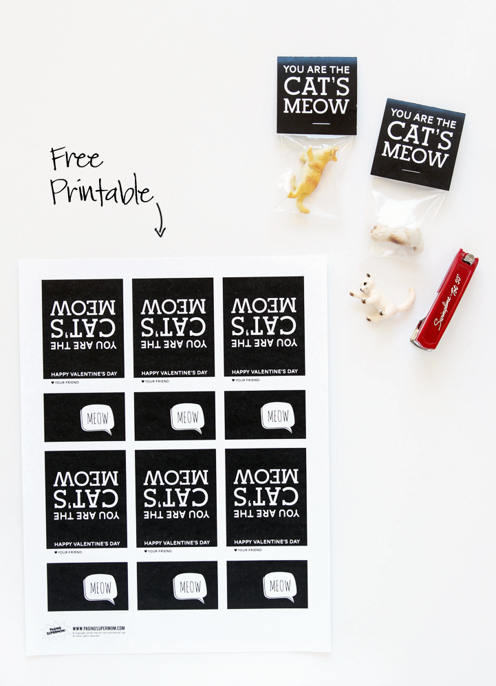 Cats Meow Free Class Valentine