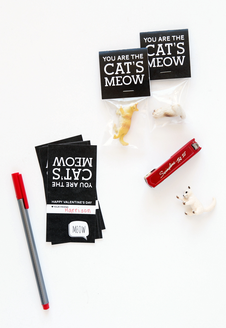 Cats Meow Free Printable Valentine 2