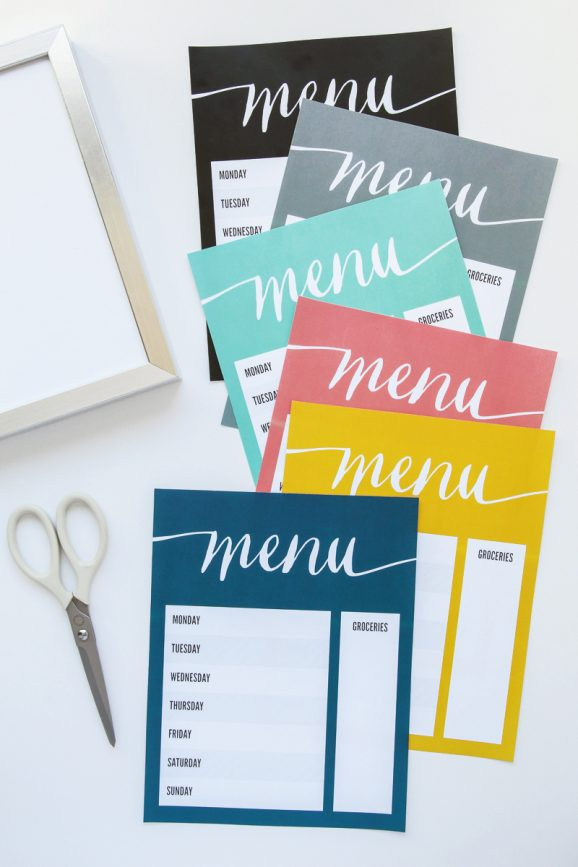 Free-Printable-Menu-Board