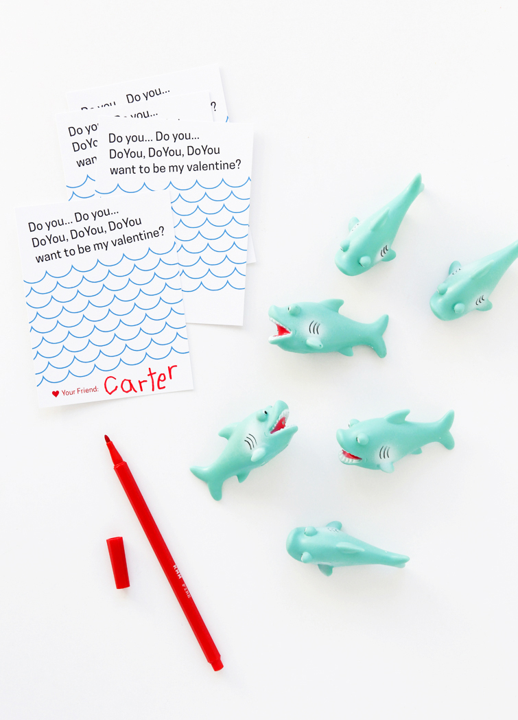 Free Printable Shark Valentine 5