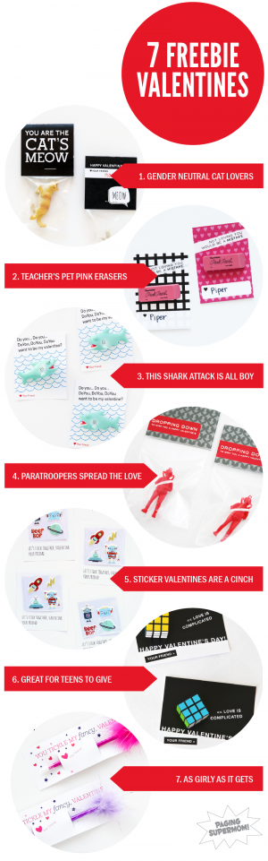 Seven Free Class Valentines from @PagingSupermom