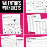 Free Printable Worksheets for Valentine's Day