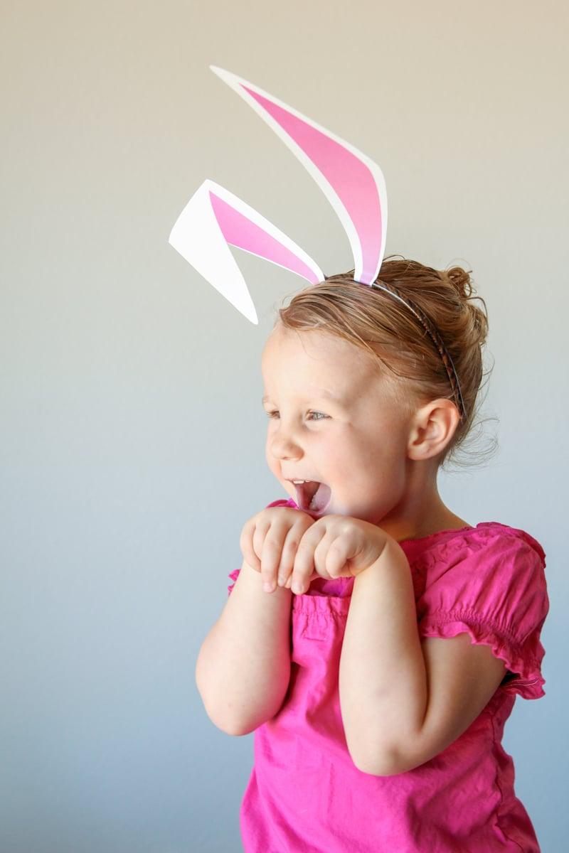Free Printable Bunny Ears PLUS 7 other animal templates via @PagingSupermom