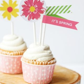 Spring Bloom Cupcake & Muffin Toppers