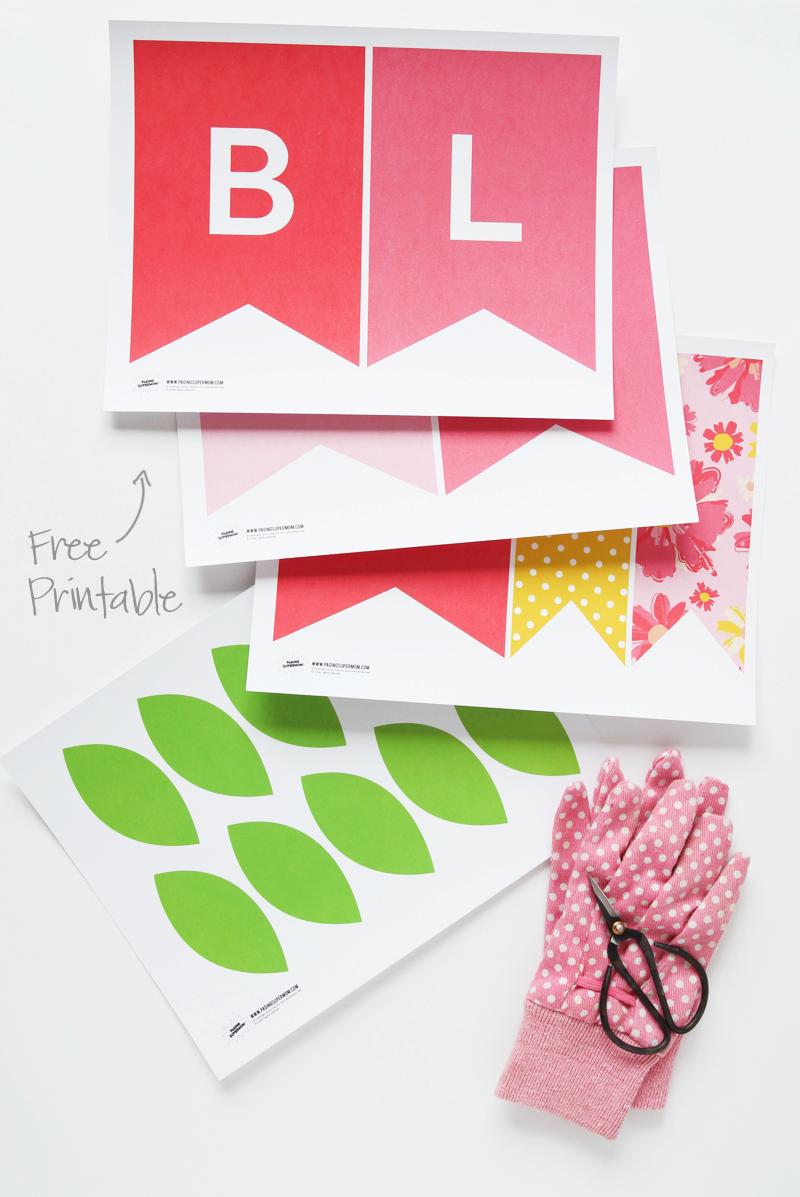 Free Printable Bloom Banner
