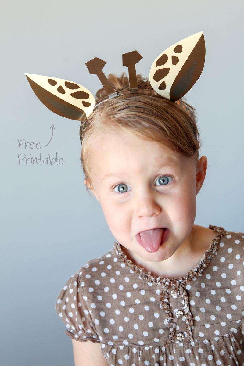 Free Printable Giraffe Headband PLUS 7 other animal templates via @PagingSupermom