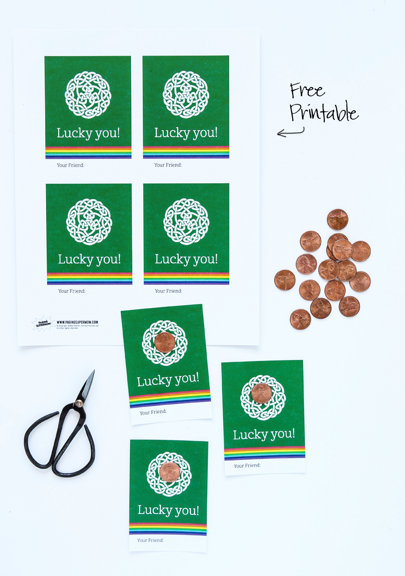 Free Printable Lucky Penny Card - Paging Supermom