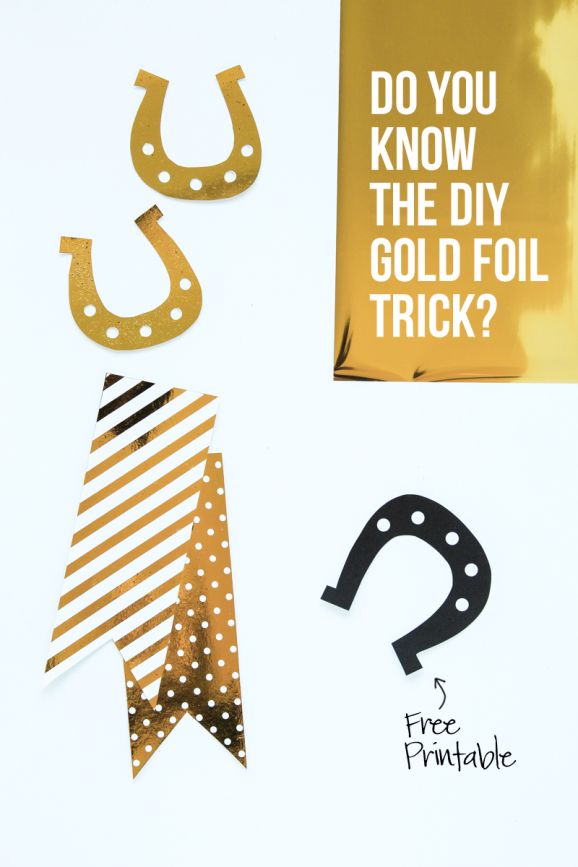 How to get a true metallic gold foil at home! via @PagingSupermom