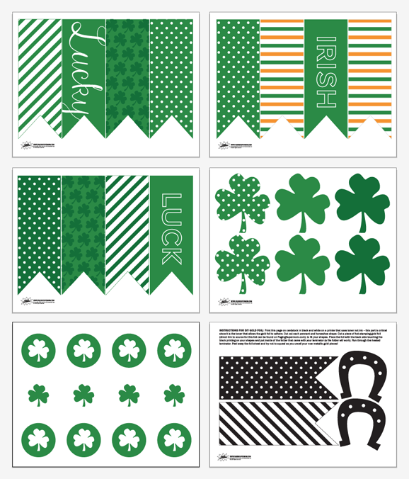 Lucky Charms Banner Free Printable St. Patrick's Day Decor
