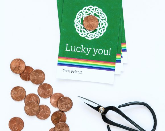 Lucky Penny Card + How to Shine Pennies