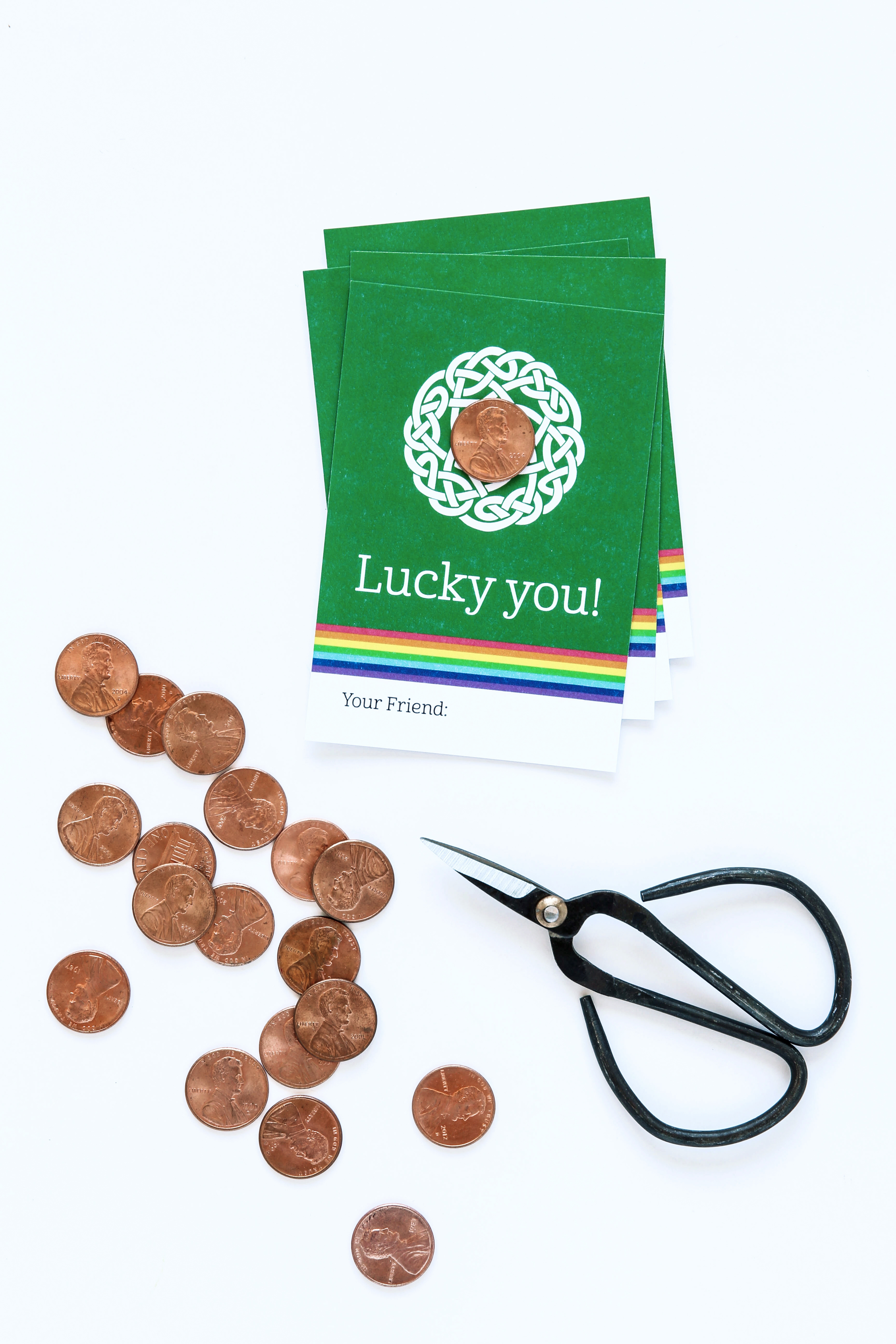 lucky penny card   how to shine pennies