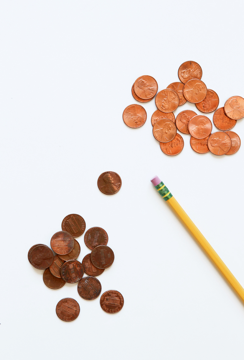 "How to Clean Pennies so they really shine plus free printable ""Lucky Penny"" bookmarks via @PagingSupermom"