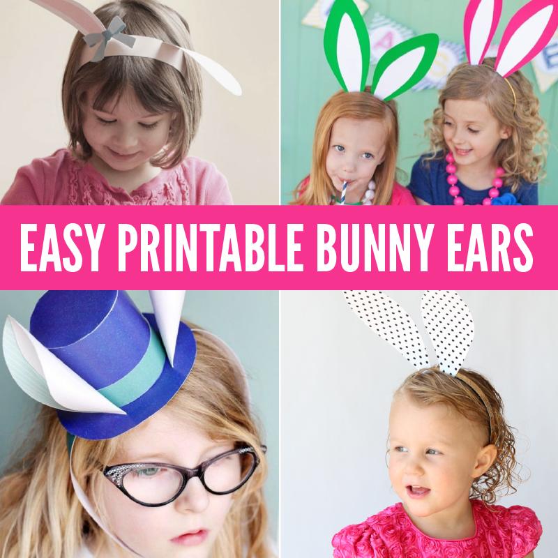 Easy Printable Bunny Ears Round Up via @PagingSupermom