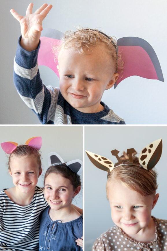 EIGHT Free Printable Safari Animal Ears Templates via @PagingSupermom