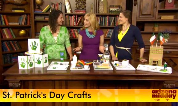 St. Patrick's Day Crafts on Arizona Midday via @PagingSupermom