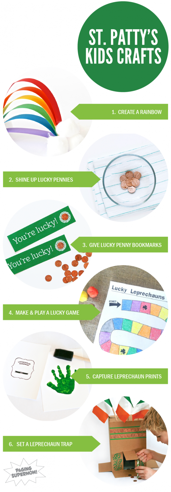 St. Patrick's Day Kids Craft Round Up via @PagingSupermom