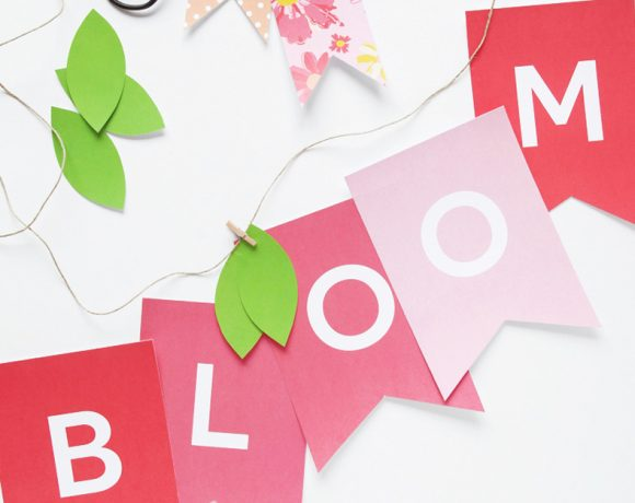 Free Printable Bloom Banner