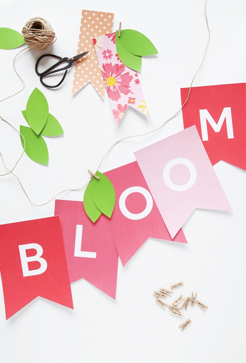 Bloom Banner for Easter and Spring - free printable from @PagingSupermom