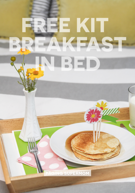 Free Printable Breakfast in Bed Kit, even helps kids get the placement right on a  place setting. From @PagingSupermom