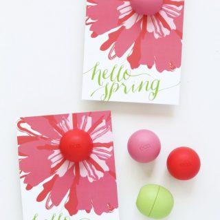 EOS Spring Lip Balm Card
