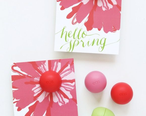 EOS Spring Lip Balm Card