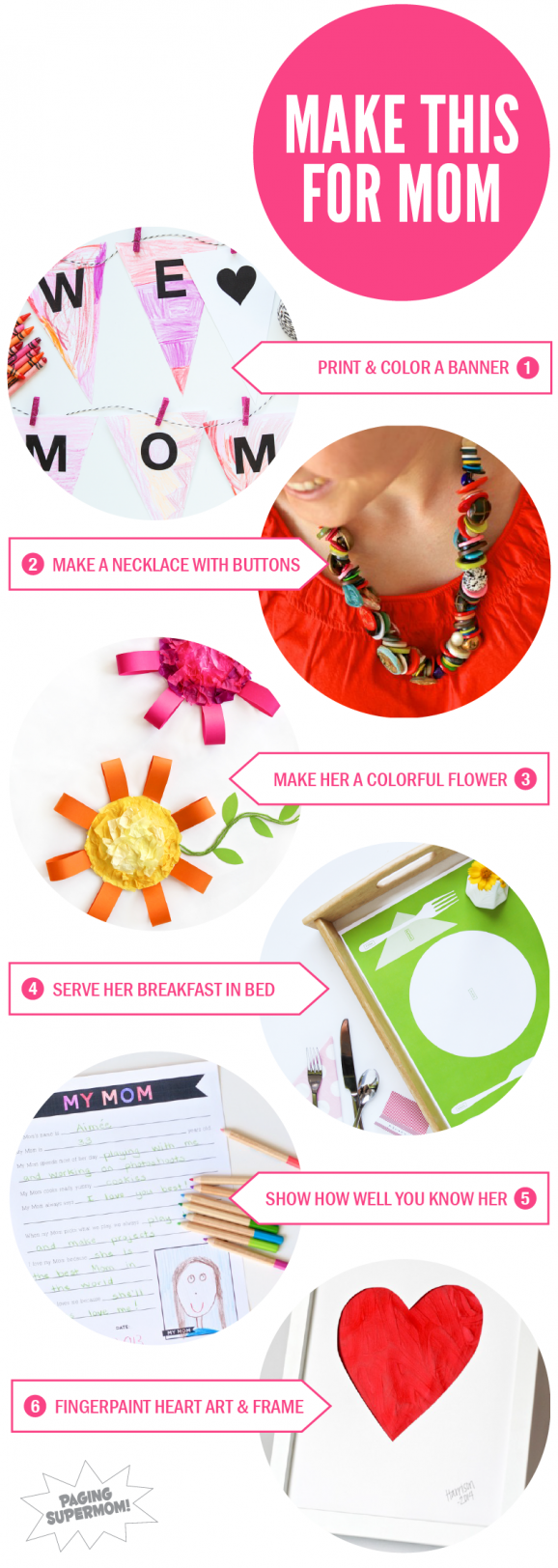 Cute Mother's Day Ideas and lots of FREE printables from @PagingSupermom