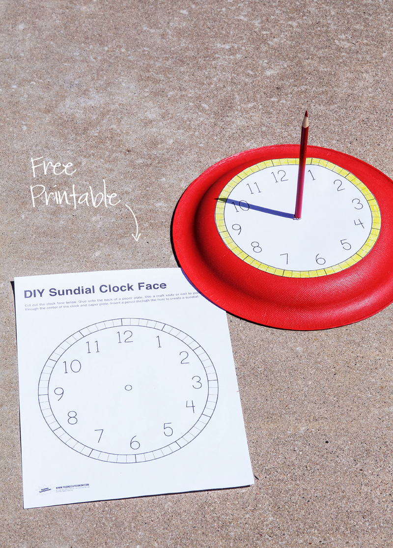 Free Printable Clock Face for a Sundial