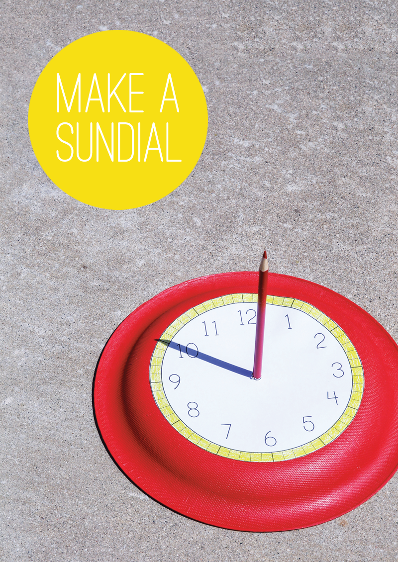 Free Printable to make this Easy Sundial from @PagingSupermom