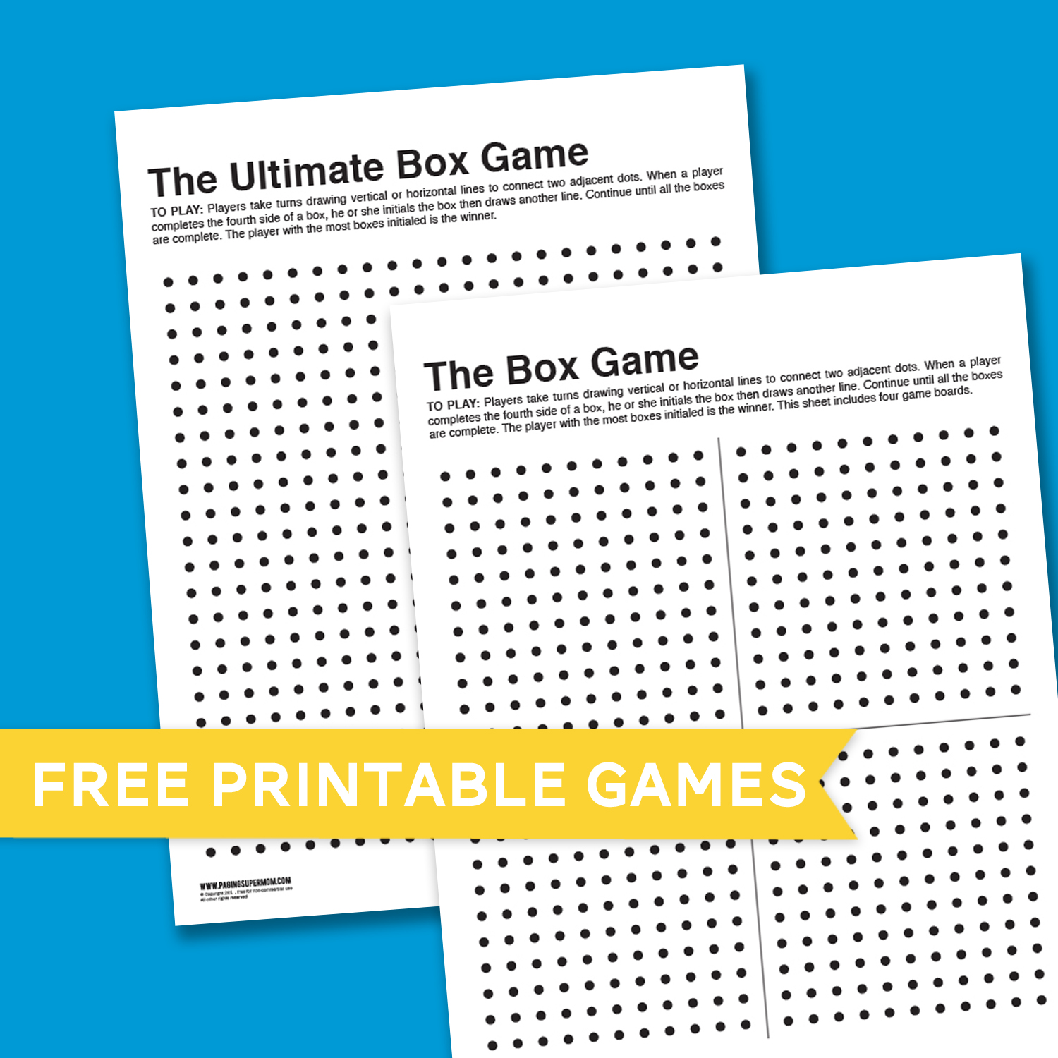graphic regarding Dots and Boxes Game Printable identify Box Recreation Boredom Buster - Paging Supermom