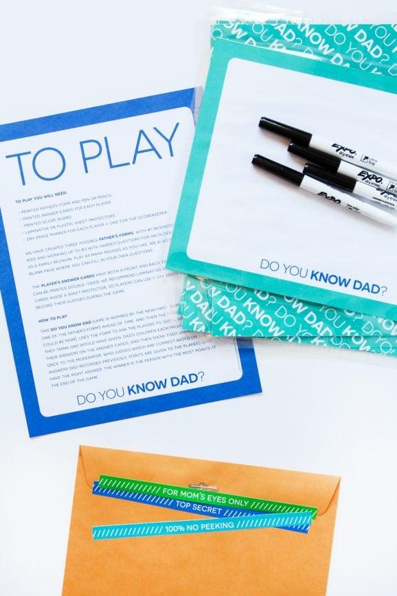 Do You Know Dad Game - Free Printables via @PagingSupermom