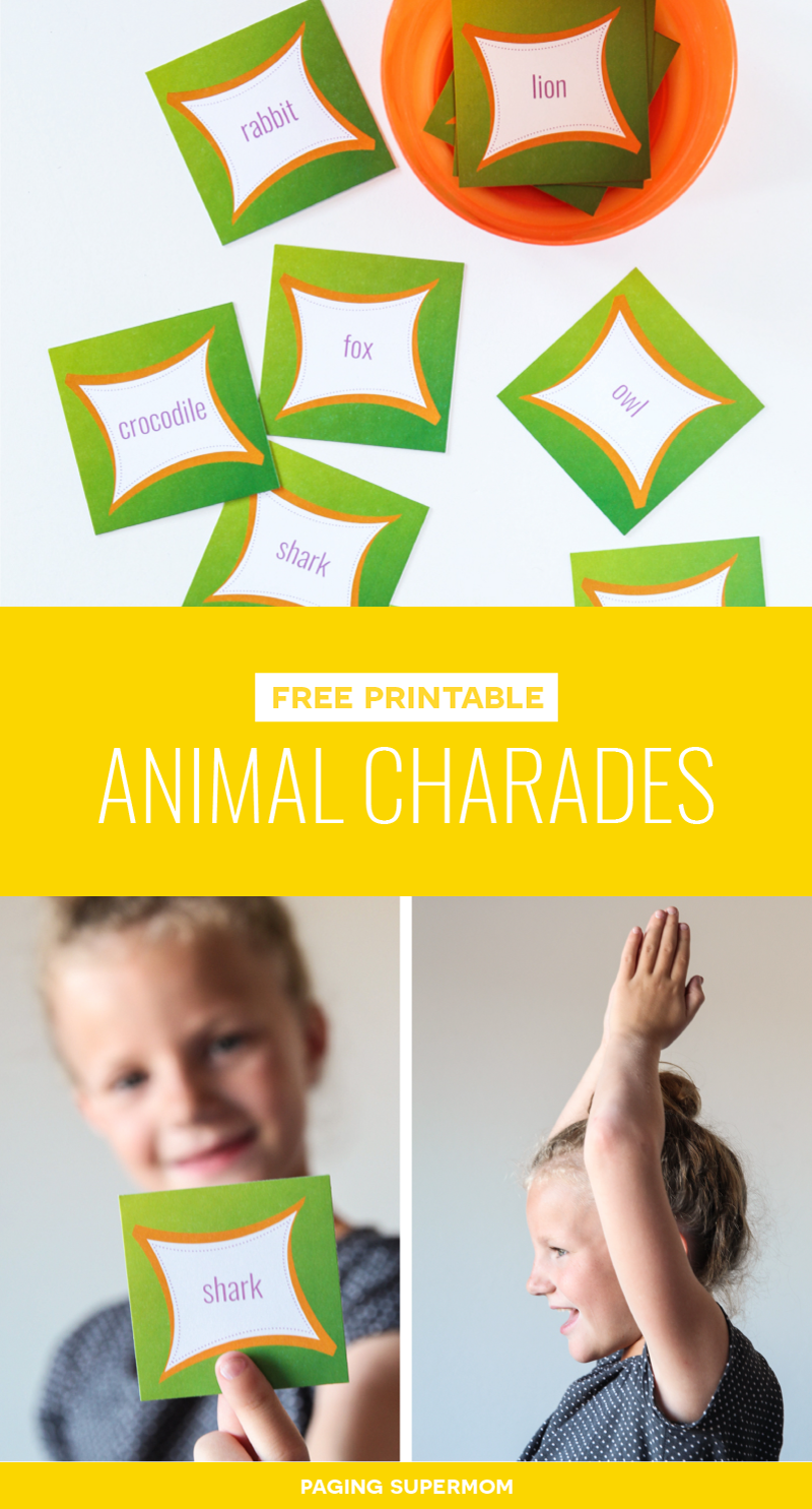 Free Printable Animal Charades cards via @PagingSupermom