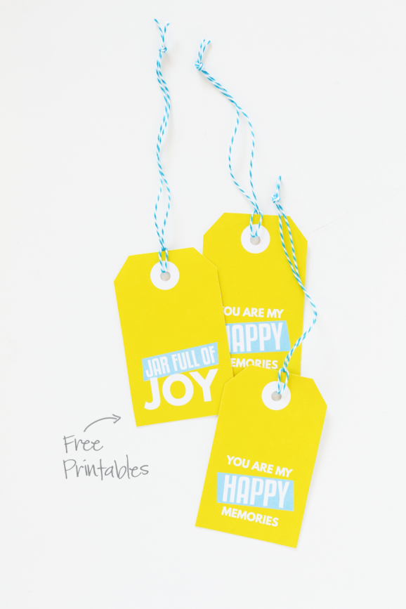 Free Printable Joy Gift Tags inspired by Disney's Inside Out Movie via @PagingSupermom