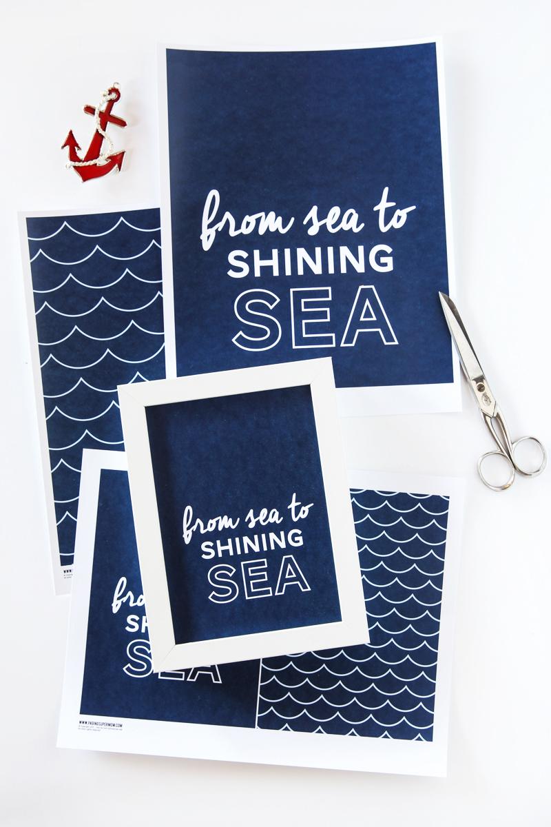 Sea to Shining Sea printables