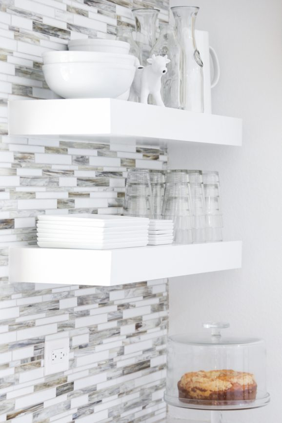 Love this Open Shelving in Bettijo's Kitchen