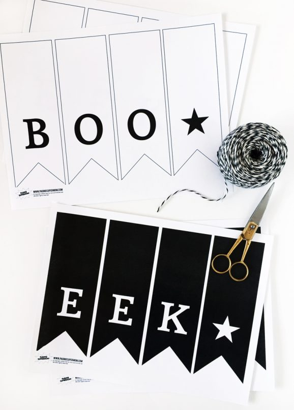 Free Printable Modern Halloween Banner from @PagingSupermom