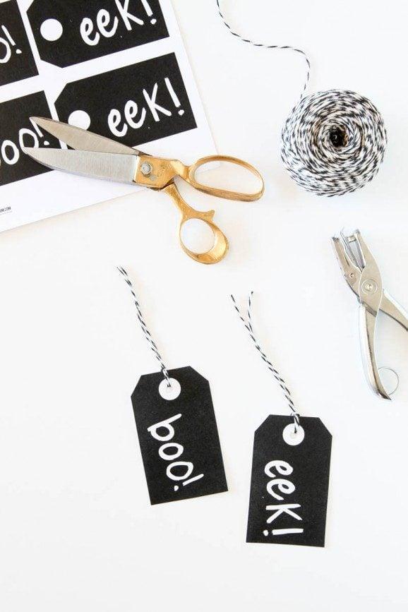 free printable halloween gift tags - Halloween Gift Tag