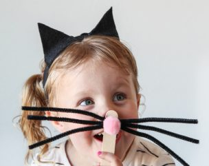 Super-Easy Girls Cat Costume