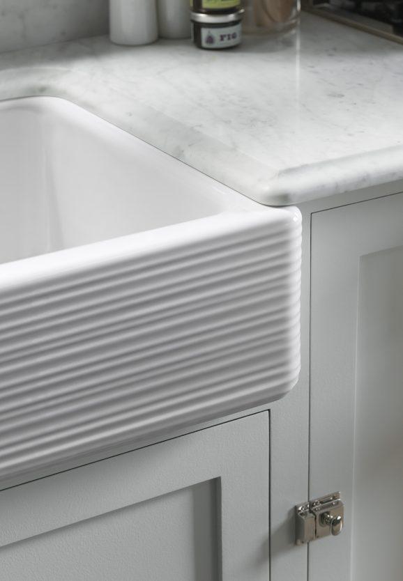 Kohler's self-rimming apron sinks are easiest to install for DIY via @PagingSupermom