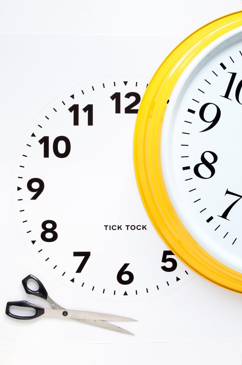How to Customize an IKEA Wall Clock