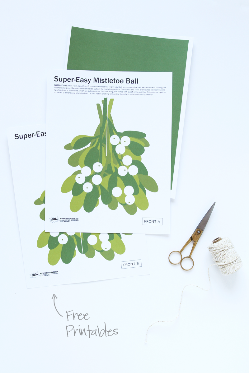 image regarding Printable Mistletoe referred to as Absolutely free Printable Xmas Decor in opposition to Paging Supermom