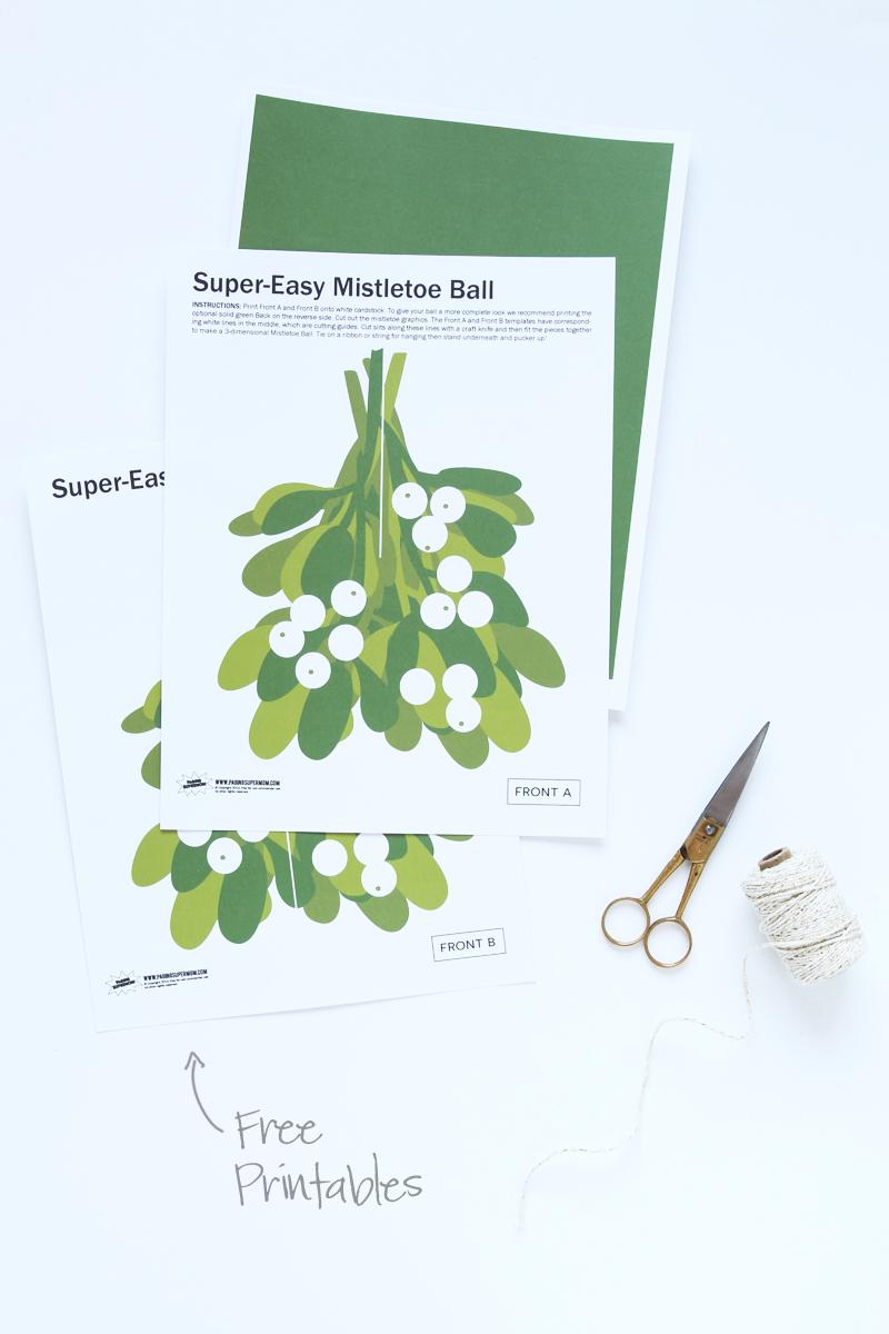 Free Printable Mistletoe