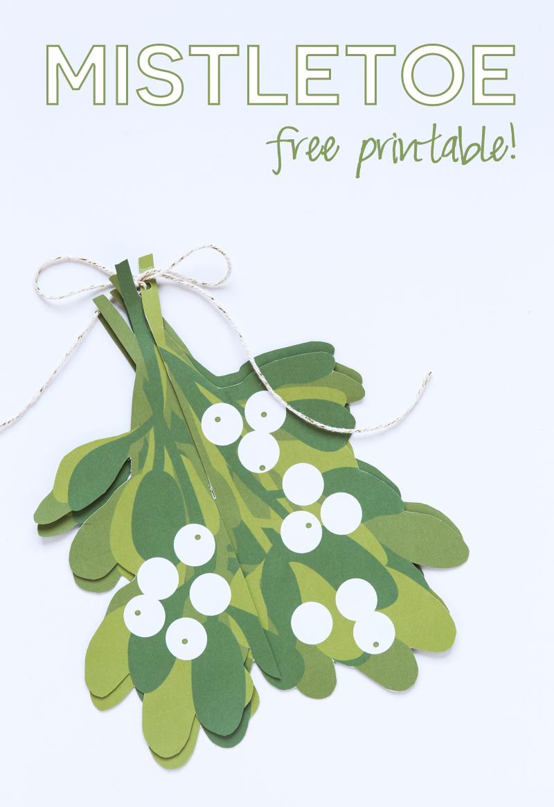 "Free Printable Mistletoe ""Kissing Ball"" from @PagingSupermom"