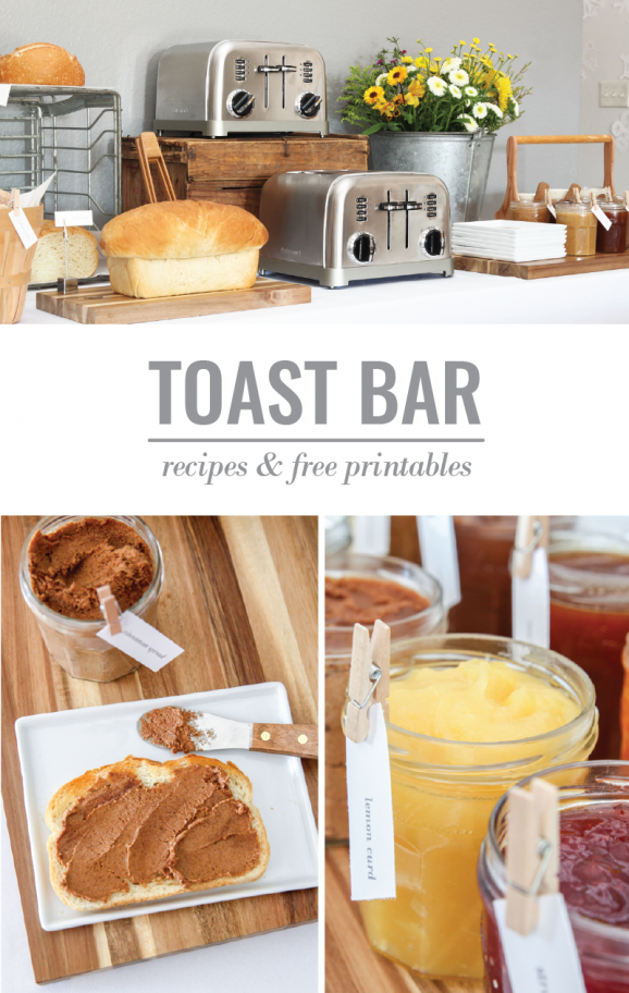 How to Host a Toast Bar + MUST TRY Cinnamon Toast Spread recipe via @PagingSupermom