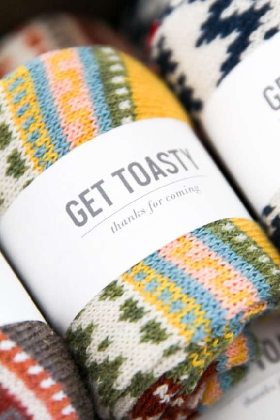 """Get Toasty"" party favors FREE PRINTABLE tag from @PagingSupermom"