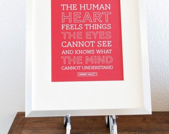 Free Printable Human Heart Quote
